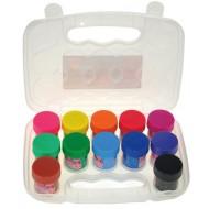 Culori tempera cu sclipci Glittera Daco 12 culori