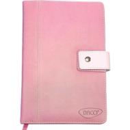 Agenda nedatata A5 160 pagini Daco AN511 - maro deschis, roz, turcoaz