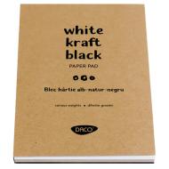 Bloc hartie A4 alba-natur-neagra Daco
