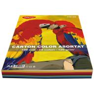 Carton colorat asortat A4 120g 10 culori 100 coli