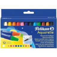 Creioane colorate cerate solubile Pelikan 12 culori