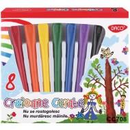 Creioane colorate cerate Daco 8 culori