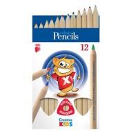 Creioane colorate groase Ico Natur 12 culori