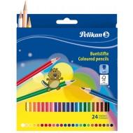 creioane colorate pelikan 24 culori