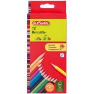 Creioane colorate triunghiulare Herlitz 12 culori