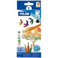 Creioane colorate acuarela Milan 12 culori