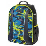 Ghiozdan ergonomic Herlitz Be.Bag Airgo Camouflage Lemon