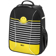 Ghiozdan ergonomic Herlitz Be.Bag Airgo Smiley World Black Stripes