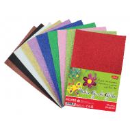 Hartie gumata glitter 10 culori Daco