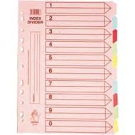 Index din carton 10 set