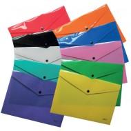 Mapa plastic cu buton A4 Daco - diferite culori