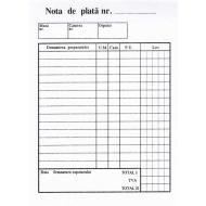 Nota de plata A6, 100 file