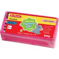 Plastilina Soft Clay Herlitz 500g - Roz Neon