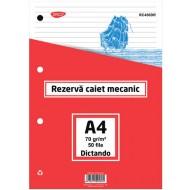 Rezerva caiet mecanic A4 Daco - Dictando