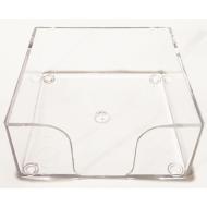 Suport plastic cub hartie 9.8 x 9.8 cm