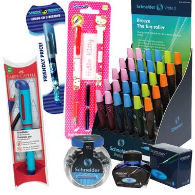 Stilouri scolare, inkrollere, cerneala