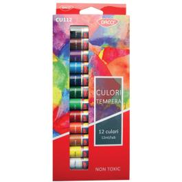 Acuarele tuburi tempera Daco 12 culori 12ml