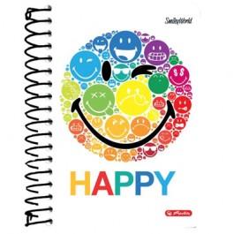 Caiet spira A6 200 file Herlitz SmileyWorld Rainbow