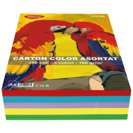 carton asortat multicolor 5 culori