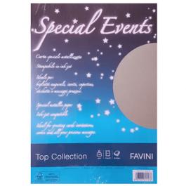 Carton metalizat A4 120g 20 coli Favini - argintiu