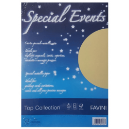 Carton metalizat A4 120g 20 coli Favini - auriu