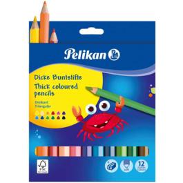 creioane colorate groase pelikan 12 culori