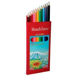 creioane colorate memoris precious 12 culori