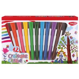 Creioane colorate cerate Daco 12 culori