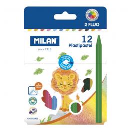 Creioane colorate cerate Milan 12 culori