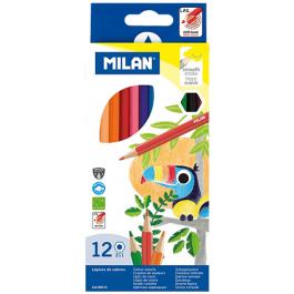 Creioane colorate Milan 12 culori