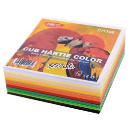 Cub hartie colorata 9cm x 9cm Daco