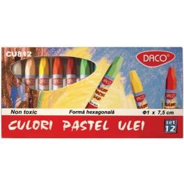 Culori pastel ulei set 12 Daco CU812