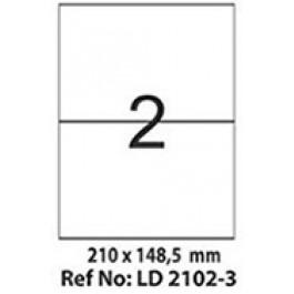 Etichete autoadezive 2/A4 210x148.5 mm