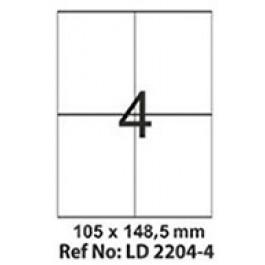 Etichete autoadezive 4/A4 105x148.5 mm