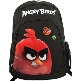 Ghiozdan Angry Birds negru cu rosu