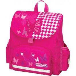 Ghiozdan gradinita ergonomic  Herlitz Mini Softbag Pink Butterfly