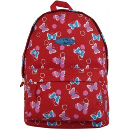 ghiozdan tip rucsac fly butterfly rosu
