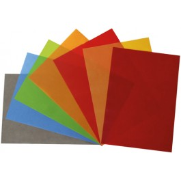 Hartie colorata transparenta A4 100g 10 coli gri antracit