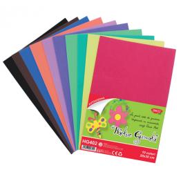 Hartie gumata autoadeziva 10 culori Daco