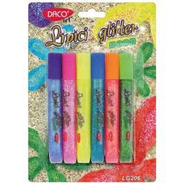 Lipici glitter neon Daco