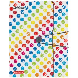 Mapa plastic cu elastic lata 40mm Herlitz Smiley World Rainbow