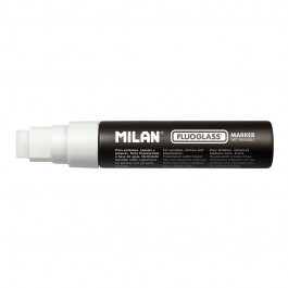 Marker pentru sticla Fluoglass Jumbo Milan - Alb