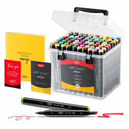 Marker grafic Art Duet Daco 80 culori MK680