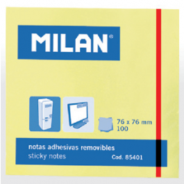Notes autoadeziv 76x76mm Milan