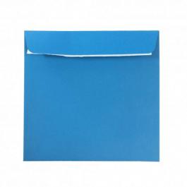 Plic albastru patrat 14x14