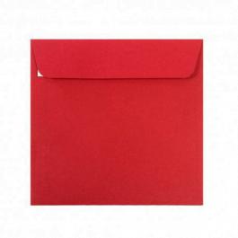 Plic colorat patrat 14x14 rosu craciun