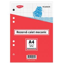 Rezerva caiet mecanic A4 Daco - Matematica