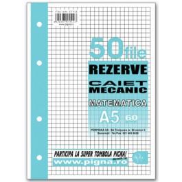 Rezerva caiet mecanic A5 50 file - matematica