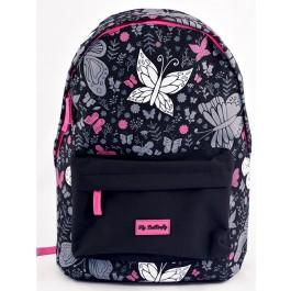 Rucsac negru roz Fly Butterfly