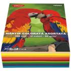 Hartie colorata asortata A4 80g 500 coli 10 culori